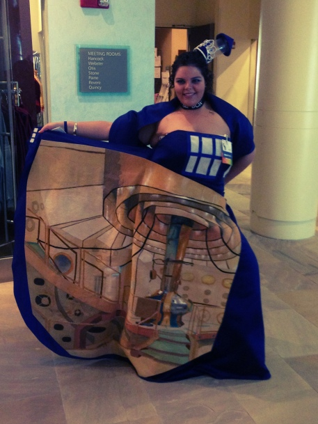 Sasha Trabane in her badass TARDIS dress at Arisia this year! Photo by jere7my (Flicker).