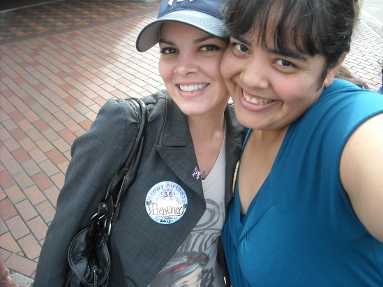 Me and the Birthday Girl, wearing her birthday button!