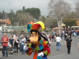 No matter how dreary the day, Goofy knows how to brighten things up!