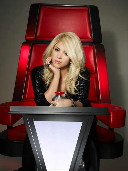Shakira comes to The Voice in March.