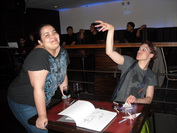 Me and Amanda Palmer in 2009. Yes, there was a reason she posed that way that SHE didn't even know. No, I'm not gonna tell you now. :)
