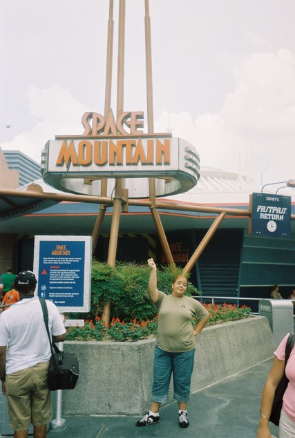 I mock Space Mountain. 2004.