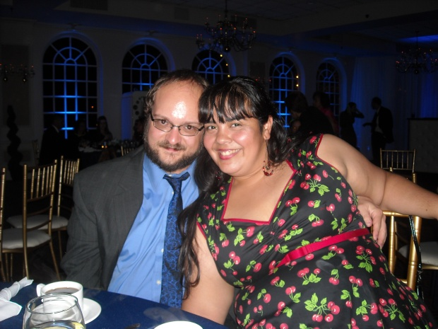 The Boy and Me at Joanna's wedding.