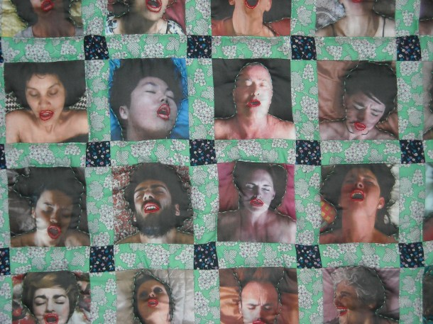 """""""O Quilt"""" by Laura McMillian and Kristin Reger at the Museum of Sex in NYC."""