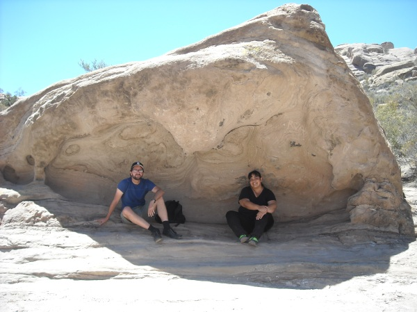 Adam and Me at Vasquez Rocks.