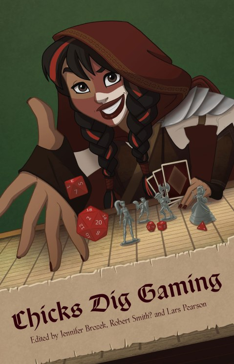Chicks Dig Gaming cover illustration by the squee-worthy Katy Shuttleworth.