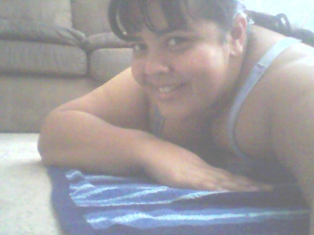 Down on the mat (or the towel) working my core!