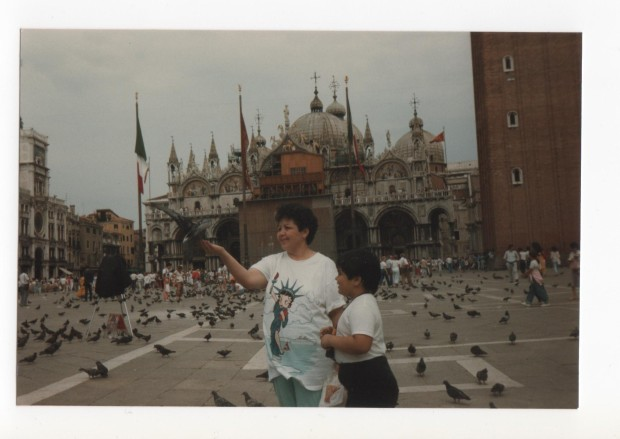 Venice, Italy 1986 - Mom and Me